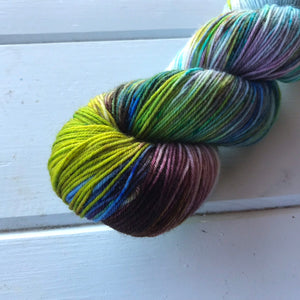 Pontchartrain Beach - 75/25 SW Merino, Nylon - Sock Yarn - Fingering Yarn - Speckled Yarn - Lagniappe Sock -Dyed To Order