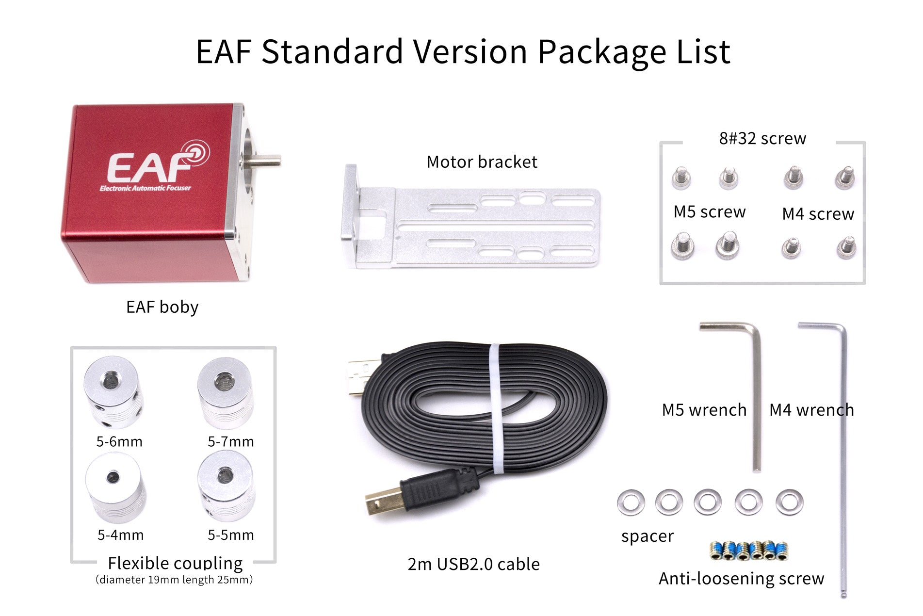 ZWO EAF included parts