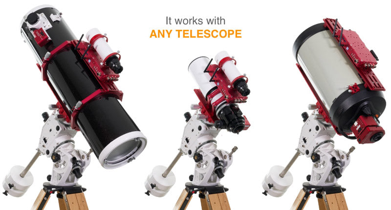 Prima Luce Lab Eagle 4 works with any telescope - Newtonian reflector, refractor, Schmidt Cassegrain, and more