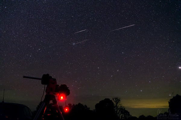 A clear night and camera equipment set up ready for a promising night ahead. Credit & copyright:Adriano Massatani.