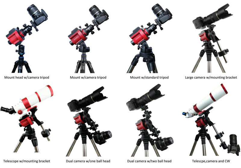 iOptron SkyGuider Pro configurations