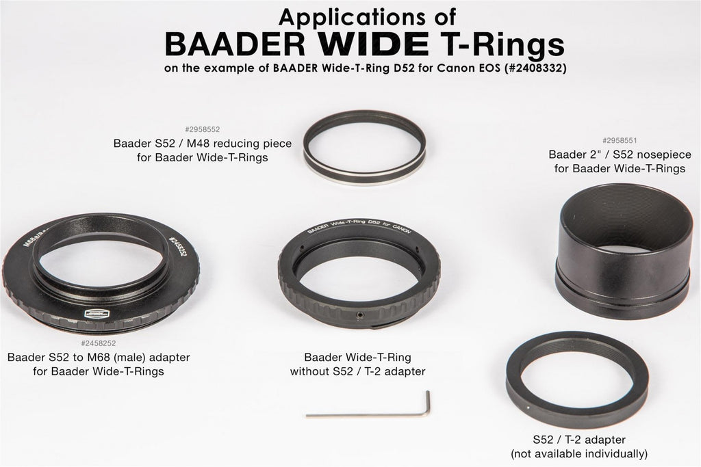 BAADER T-RING FOR SONY E-MOUNT E/NEX CAMERAS Adapter Testar Australia.