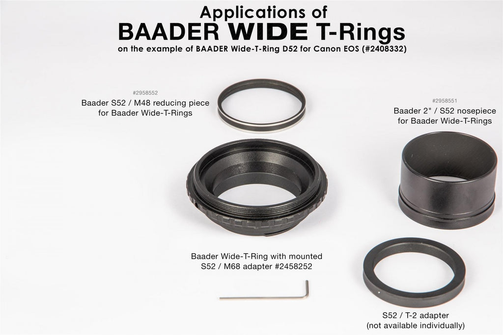 BAADER T-RING FOR CANON CAMERAS Adapter Testar Australia.