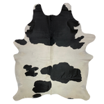 "Brazilian Black and White Cowhide - SECOND - 7'4"" x 5'8"" (2BRBKW047)"