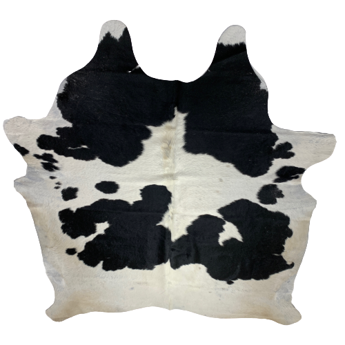 "Brazilian Black and White Cowhide - SECOND - 7'1' x 6'4"" (2BRBKW070)"