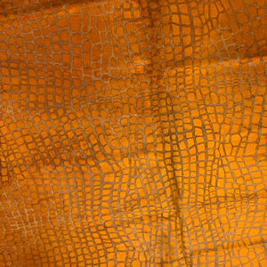 PROMO XL Orange Dyed Brazilian Cowhide with a Croc Acid Wash - (BRAW088)