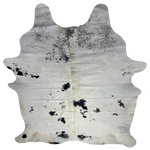 "Large Brazilian White and Black Cowhide - 7'8"" x 6' (BRBKW073)"