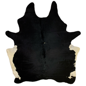 "Brazilian Black and White Cowhide - 7'4"" x 6'1"" (BRBKW100)"
