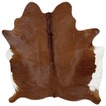"Brazilian Brown Cowhide with a White Belly - 6'6"" x 5'9"" (BRBNW170)"