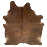 "Brazilian Red Brown and Black Brindle Cowhide - 6'4"" x 5'1"" (BRBR193)"