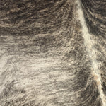Brazilian Black, Brown, Off-White Brindle Cowhide - (BRBR205)