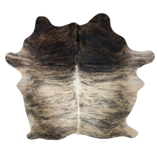 "Brazilian Brown, Black, Tan Brindle Cowhide - 7'3"" x 6' (BRBR209)"