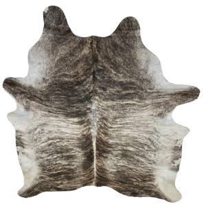 "Brazilian Brown, Black, Off-White Brindle Cowhide - 7' x 5'11"" (BRBR212)"