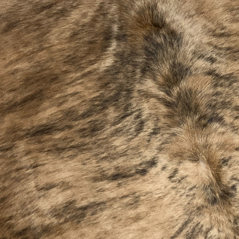 Large Brazilian Golden Brown and Black Brindle Cowhide -  (BRBR225)