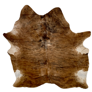 "Brazilian Brown and Black Brindle Cowhide Rug - 6'6"" x 5'6"" (BRBR340)"