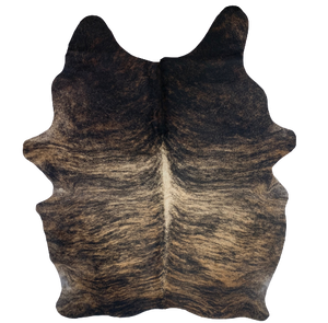 "Brazilian Brindle Cowhide, Black, Tan, Brown - 7'4"" x 5'8"" (BRBR356)"