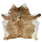 "Brazilian Brown Brindle Cowhide Rug - 6'7"" x 6'3"" (BRBR408)"