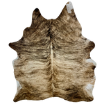 "Brazilian Brown, Black, Tan Brindle Cowhide - 7'2"" x 5'8"" (BRBR438)"