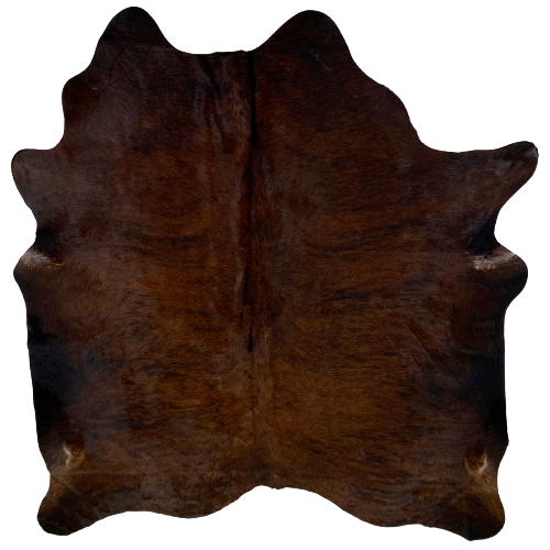 "Brazilian Dark Brindle Cowhide, Dark Red Brown and Black - 6'5"" x 5'7"" (BRBR446)"