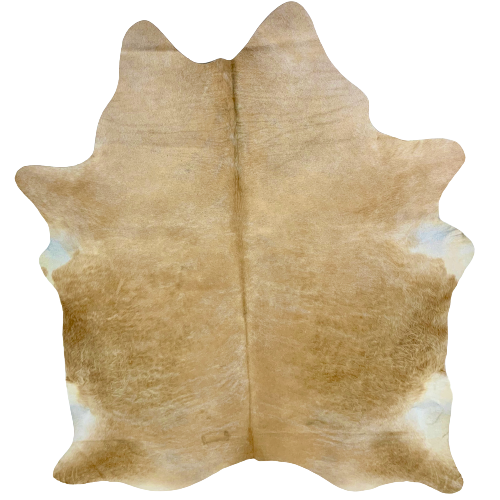 "Brazilian Light Tan Brindle Cowhide, one brand mark - 6'9"" x 5'5"" (BRBR451)"