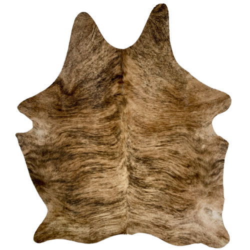 "Brazilian Brown and Dark Brown Brindle Cowhide - 6'11""x 5'10 (BRBR480)"