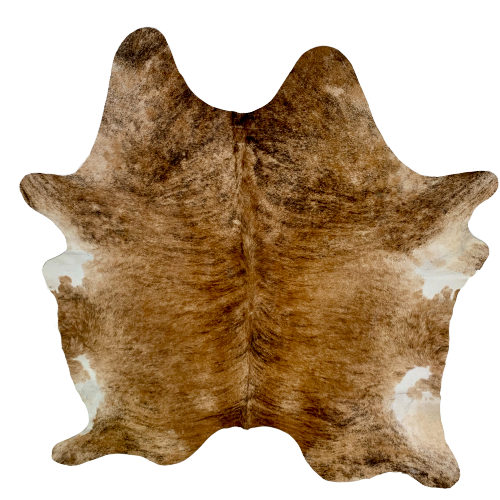 "Brazilian Brown and Black Brindle Cowhide - 6'8"" x 6' (BRBR481)"