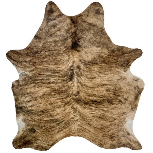 "Brazilian Tan and Brown Brindle Cowhide - 6'8"" x 5'5"" (BRBR482)"