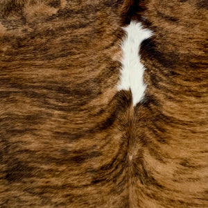 Large Brazilian Light Brindle Cowhide, brown, dark brown, white (BRBR498)