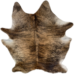 "Large Brazilian Brown and Black Brindle Cowhide - 7'7"" x 6'5"" (BRBR516)"