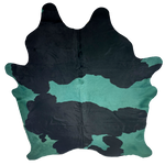 "XL Brazilian Dyed Green Black and White Cowhide - 8'1"" x 6'8"" (BRDYED001)"