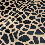 "PROMO Black Giraffe Print on Brazilian Tan Cowhide - 6'9"" x 5'6"" (BRGP003)"
