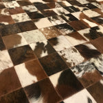 Brazilian Brown and White Cowhide Patchwork Rug (BRPW007) | Superior Hides