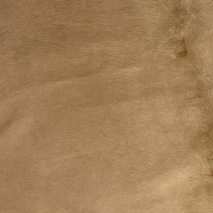 PROMO Large Brazilian Tan Dyed Cowhide, 1 brand mark - 7'9' x 6'1' (BRSL028)