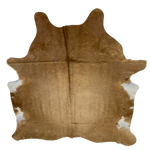 "Brazilian Solid Dark Tan Cowhide, longer hair - 6'7"" x 5'6"" (BRSL037)"