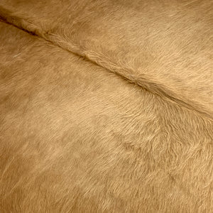 Brazilian Solid Dark Tan Cowhide, longer hair - (BRSL037)