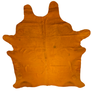 "PROMO Large Brazilian Orange Dyed Cowhide - 7'6"" x 6'1"" (BRSL058)"