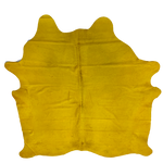 "PROMO Brazilian Yellow Dyed Cowhide - 7'4"" x 6'3"" (BRSL061)"