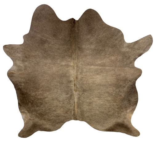 "Brazilian Solid Medium Brown Cowhide - 6'7"" x 6' (BRSL069)"
