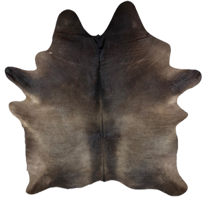 "Brazilian Solid Dark Brown Cowhide - 7'5"" x 6'7"" (BRSL081)"