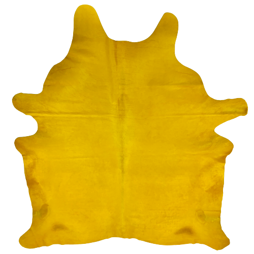 "PROMO Large Brazilian Yellow Dyed Cowhide - 7'8"" x 6'2"" (BRSLD089)"