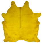 "PROMO Brazilian Yellow Dyed Cowhide - 7'3"" x 5'11"" (BRSLD090)"