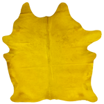 "PROMO Brazilian Yellow Dyed Cowhide - 7'4"" x 5'10"" (BRSLD091)"