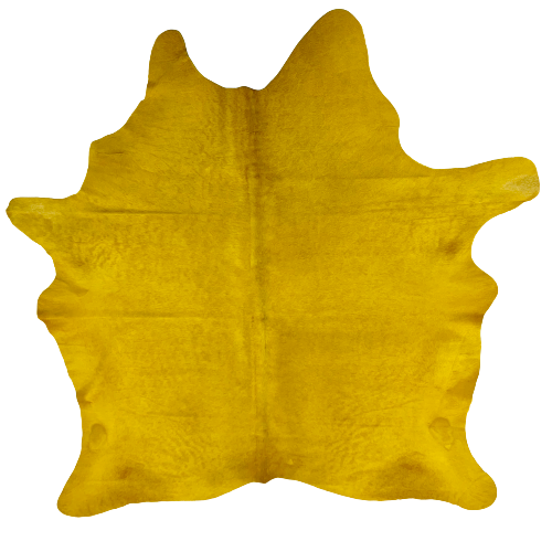 "PROMO Brazilian Yellow Dyed Cowhide - 6'8"" x 5'9"" (BRSLD092)"