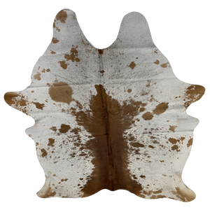 "Brazilian Brown and White Salt & Pepper Cowhide - 7'3"" x 5'8"" (BRSP349)"