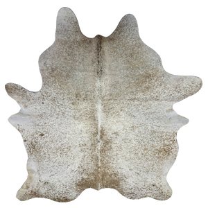 "Large Brazilian Light Brown and White Salt & Pepper Cowhide - 7'7"" x 6' (BRSP435)"