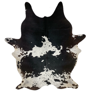 "Large Brazilian Black and White Salt & Pepper Cowhide - 7'11"" x 5'7"" (BRSP443)"