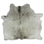 "Small Brazilian Brown and White Salt & Pepper Cowhide - 4'9"" x 4'7"" (BRSP446)"