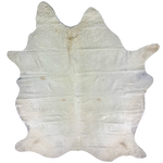 "XL Brazilian Off-White Cowhide, long hair - 8'3"" x 6'1"" (BRWT021)"