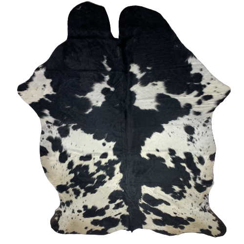 "Large Colombian Black and White Cowhide - 7'10"" x 5'5"" (COBKW067)"