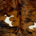 Colombian Tricolor Brindle Cowhide, reddish brown and black, with a touch of white (COBR427)